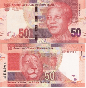 Nelson Mandela 50 Rand from South Africa