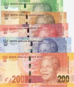 Nelson Mandela 5 note set - available for purchase at robertsworldmoney.com