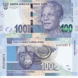 Nelson Mandela 100 Rand from South Africa