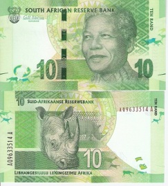 Nelson Mandela 10 Rand from South Africa