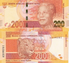 Nelson Mandela 200 Rand from South Africa