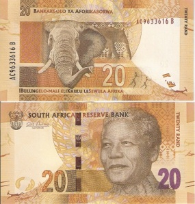 Nelson Mandela 20 Rand from South Africa