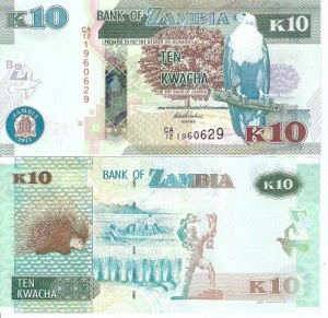 Zambia 10 Kwacha Note - available for purchase at robertsworldmoney.com