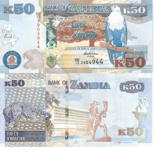 Zambia 50 Kwacha - available for purchase at robertsworldmoney.com