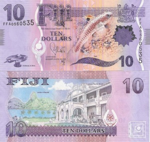 Fiji 10 Dollar Note