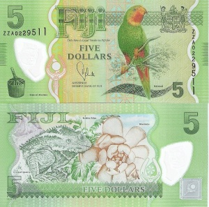 Fiji 5 Dollar Note