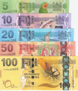 New Fiji  5-100 Dollar 5 Banknote Set  - available for purchase at robertsworldmoney.com