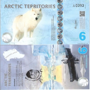 Arctic Territories 6 Dollar Note