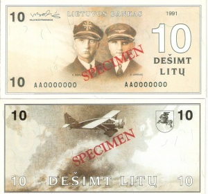 Lithuania 10 Litu Currency Pamphlet