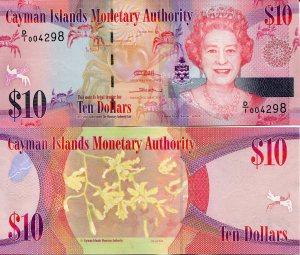 Cayman Islands10 Dollars p40a