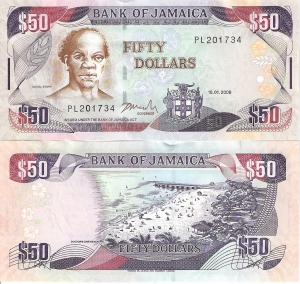 Jamaica - 50 Dollars p83e - 2008