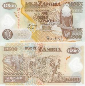 Zambia 500 Kwacha p43f - 2008