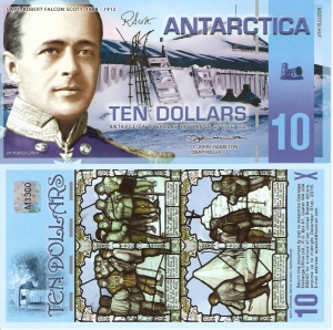 Antarctica 10 Dollars p33 Banknote