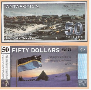 Antarctica 50 Dollars 2001 Paper Banknote