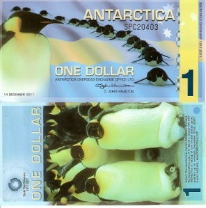 Antarctica 1 Dollar South Pole Commemorative