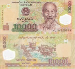 Vietnam 10,000 Dong p119 2009 UNC