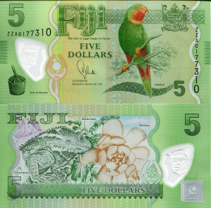 Fiji 5 Dollars pnew 2012 Replacement ZZ - Available for purchase from robertsworldmoney.com