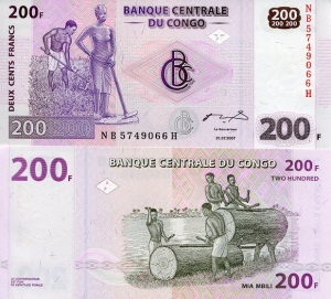 Congo Democratic Republic 200 Francs pNew 2007