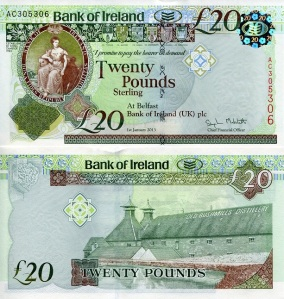 Northern Ireland 20 Pounds pNew 2013 - available for purchase at robertsworldmoney.com