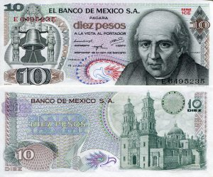 Mexico 10 Pesos p63f $2.00