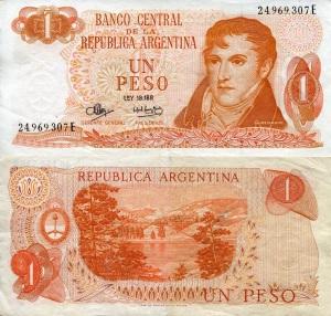 Argentina 1Peso p287 grade F