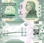 Delaware $50 Dollar Fun Note - available at robertsworldmoney.com