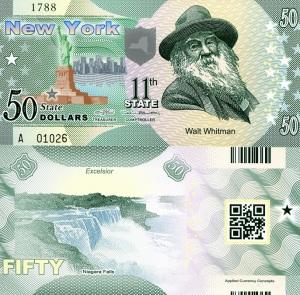 New York $50 Fun Banknote - available at robertsworldmoney.com