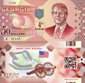 Georgia $50 Dollar Banknote