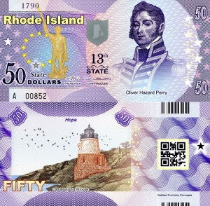 Rhode Island $50 State Banknote