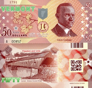 Vermont $50 State Banknote