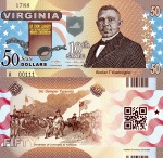 Virginia $50 Fun Note