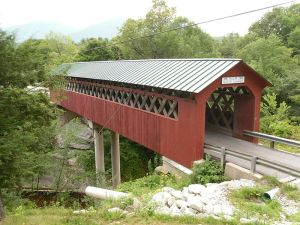 An iconic Vermont covered bridge