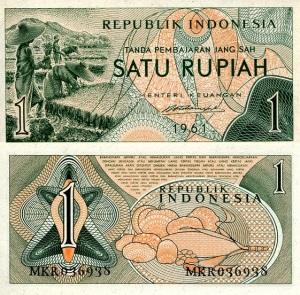 Indonesia 1 Rupiah p78 1961
