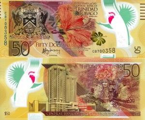 Trinidad and Tobago $50 Polymer Banknote