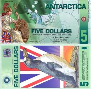 Antarctica 5 Dollar Banknote Available at robertsworldmoney.com