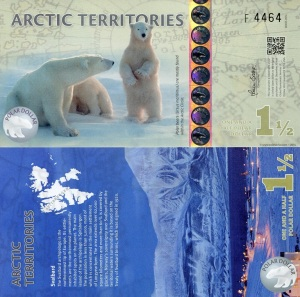 Arctic Territories 1 1/2 Dollars Available at robertsworlmoney.com