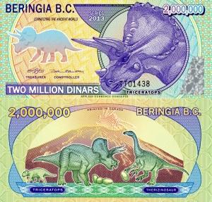 Beringia 2 Million Dinars  Available at robertsworldmoney.com