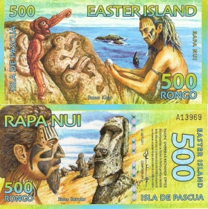 Easter Island 500 Rongo Available at robertsworldmoney.com