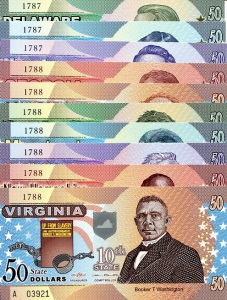 Set of the 10 US State Banknotes released in 2014 Available at robertsworldmoney.com