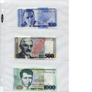 3 Note Page Holder - Half Box - available for purchase at robertsworldmoney.com