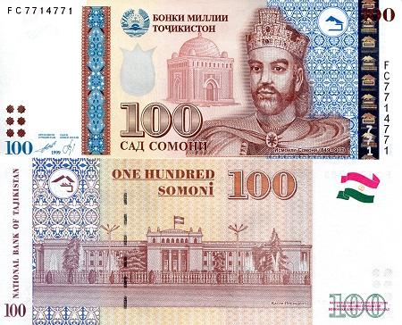 Tajikistan 100 Somoni Banknote