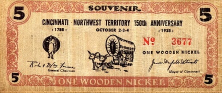 Dont Take Any Wooden Nickels Depression Era Wooden Nickel