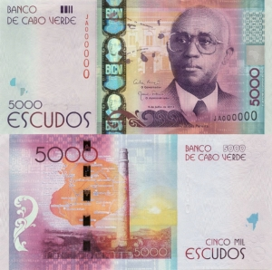 Cape Verde 5,000 Escudos - 2015 IBNS Banknote of the Year