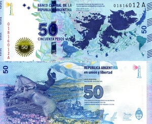 Argentina 50 Pesos - 2015 IBNS Banknote of the Year Nominee