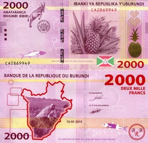 Burundi 2,000 Francs - IBNS Banknote of the Year Nominee