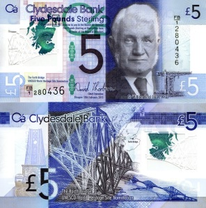 Scotland 5 Pounds - 2015 IBNS Banknote of the Year Nominee