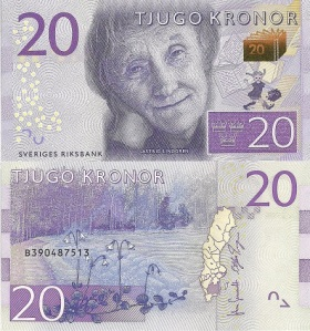 Sweden 20 Kronor - 2015 Banknote of the Year Nominee