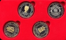 Manchester United Treble Commemorative Coin Set - available at robertsworldmoney.com