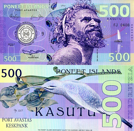 Banknote featuring Poneet elder Aza Bah Fanti Mo
