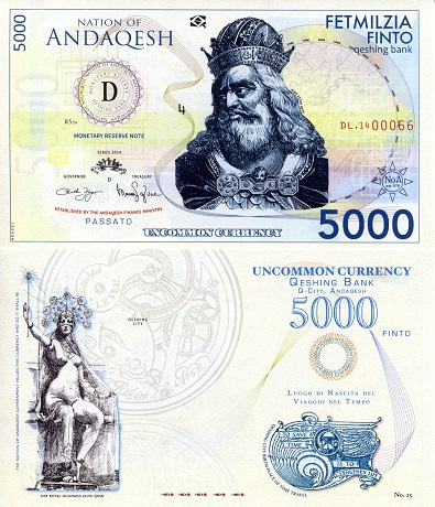 Nation of Andagesh 5000 Finto Banknote